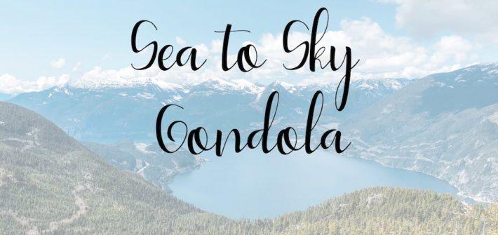 paisagem vista do alto da Sea to Sky Gondola