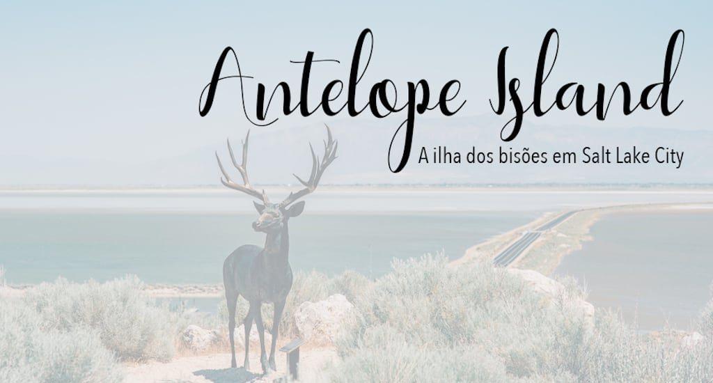Vista da estrada que leva a Antelope Island
