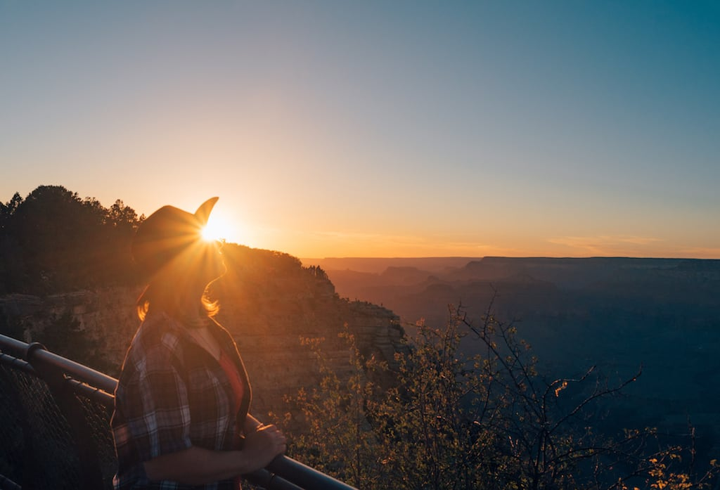 Pôr do sol no Grand Canyon. Veja mais foto! #grandcanyon #hat #sunset #pordosol
