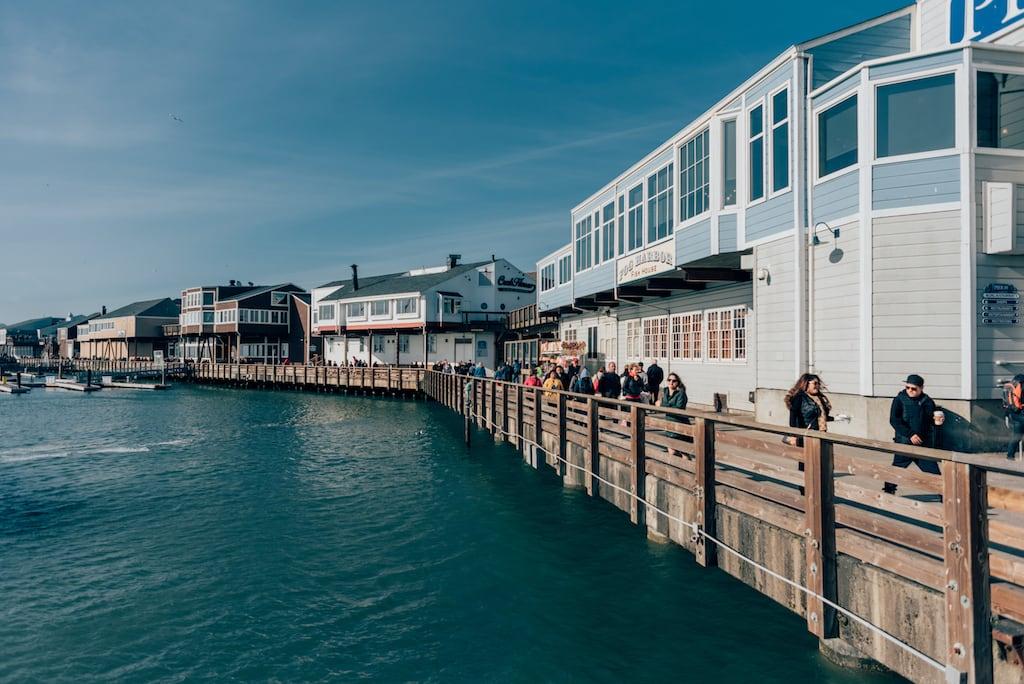 Imagem do Píer 39, primeiro local que visitamos em San Francisco!veja os outros pontos turísticos no post. #Pier39 #SanFrancisco