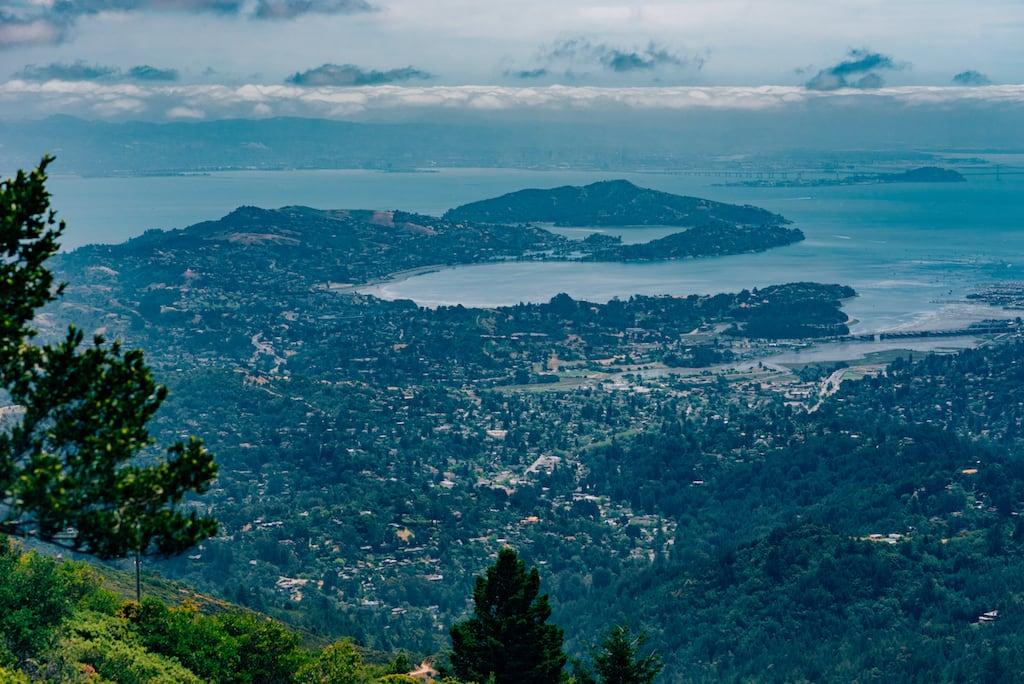 Vista do Topo do Mount Tamalpais, próximo a San Francisco. Uma bela paisagem! #MountTamalpais #view