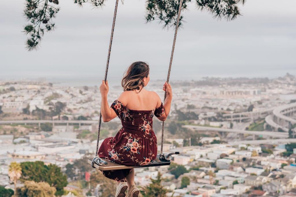 O balanço em Bernal Heights fez parte do nosso roteiro por San Francisco! Saiba mais lugares que visitamos no link! #SanFrancisco