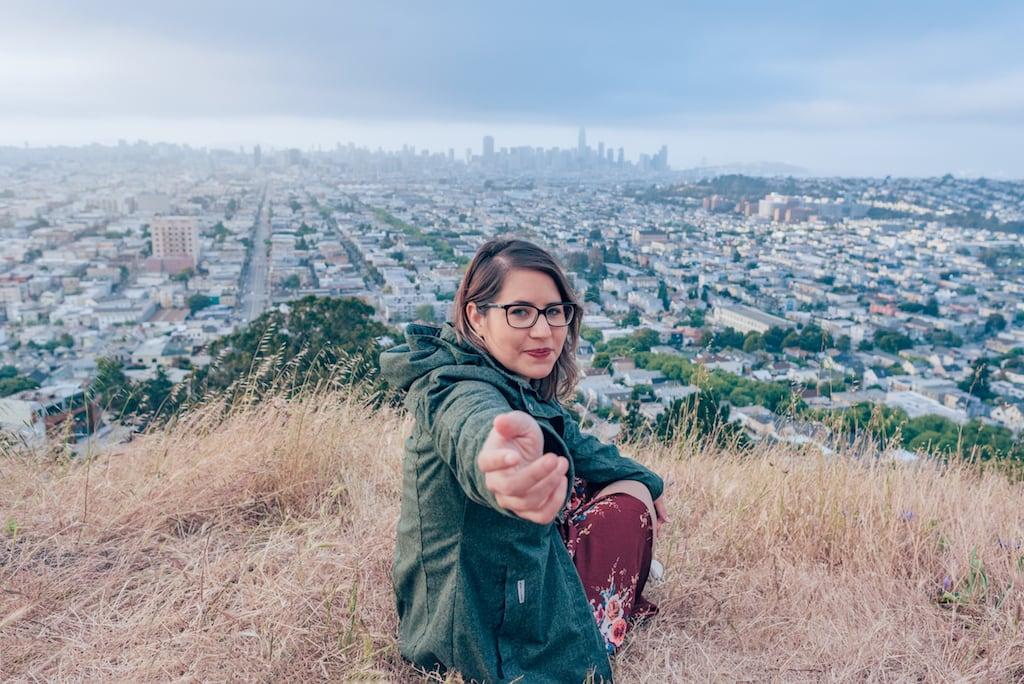 Venha ver fotos dessa vista maravilhosa para a cidade de San Francisco, no belo parque Bernal Heights! Clique para ler! #BernalHeights #SanFrancisco #DicasdePasseio