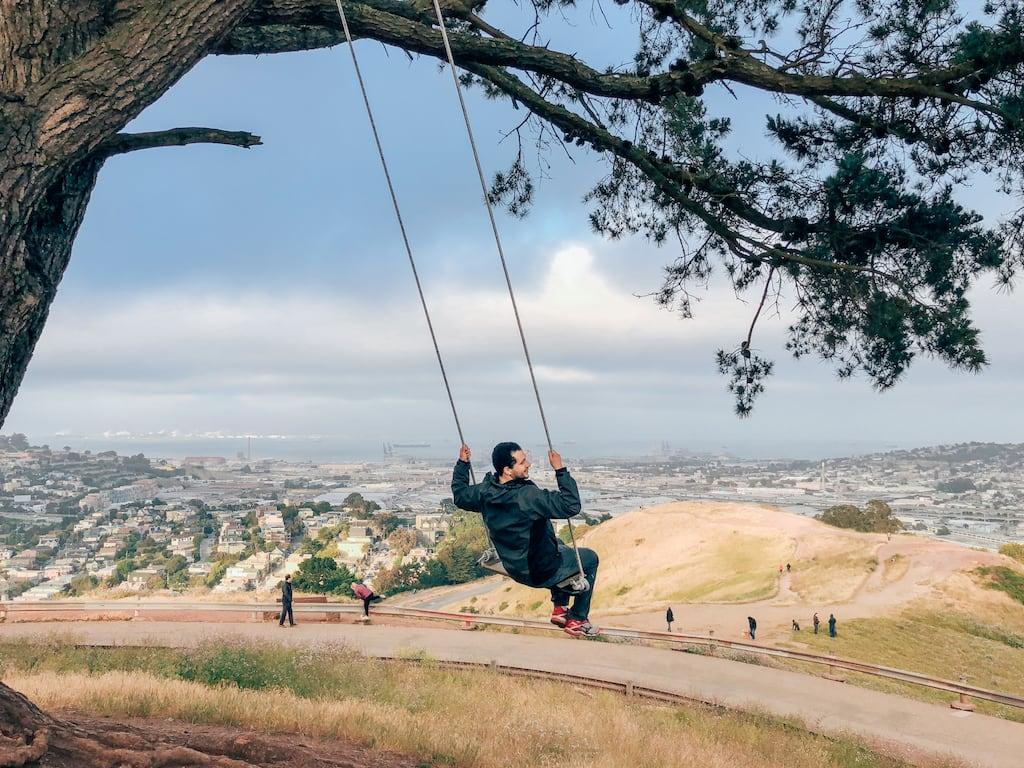 O Balanço em Bernal Heights, venha conhecer mais desse parque super fotogênico em San Francisco! Clique para ler!