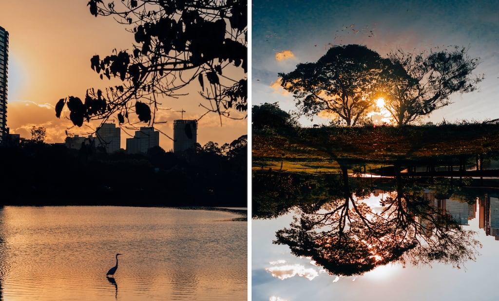 Veja mais fotos do belo lago Igapó, em Londrina/PR. Clique para acessar o post! #sunset #Londrina
