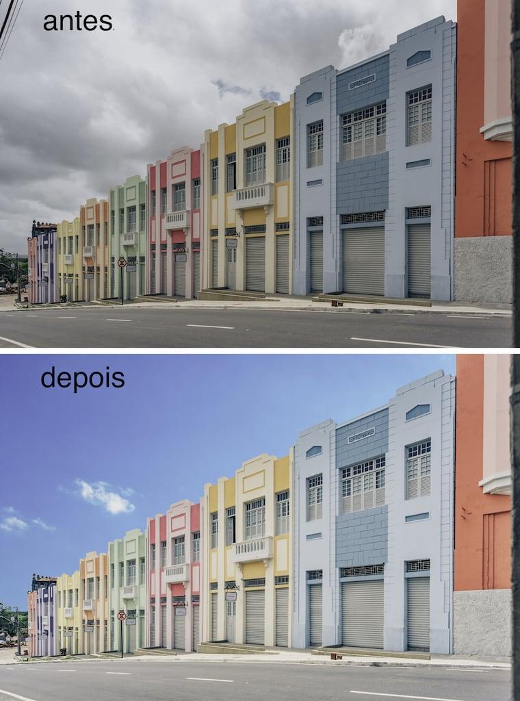 O antes e depois de mudar o céu no photoshop!Veja o tutorial completo em 5 passos no blog.