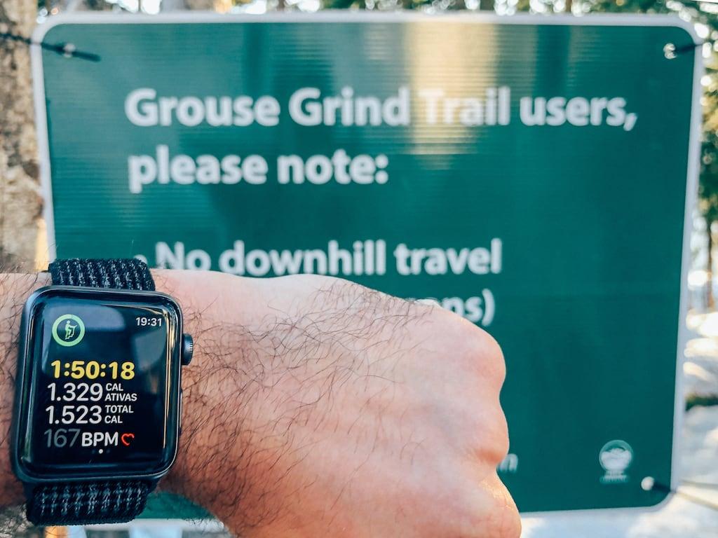 O final da Grouse Grind, após quase duas horas de subida. Saiba mais sobre essa trilha da Grouse Mountain, nos arredores de Vancouver.