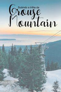 Venha conhecer a trilha que leva ao topo da Grouse Mountain, localizada a apenas 15 minutos do centro de Vancouver. Uma trilha difícil mas que recompensa com uma bela vista e a oportunidade de observar os ursos pardos que moram no topo!