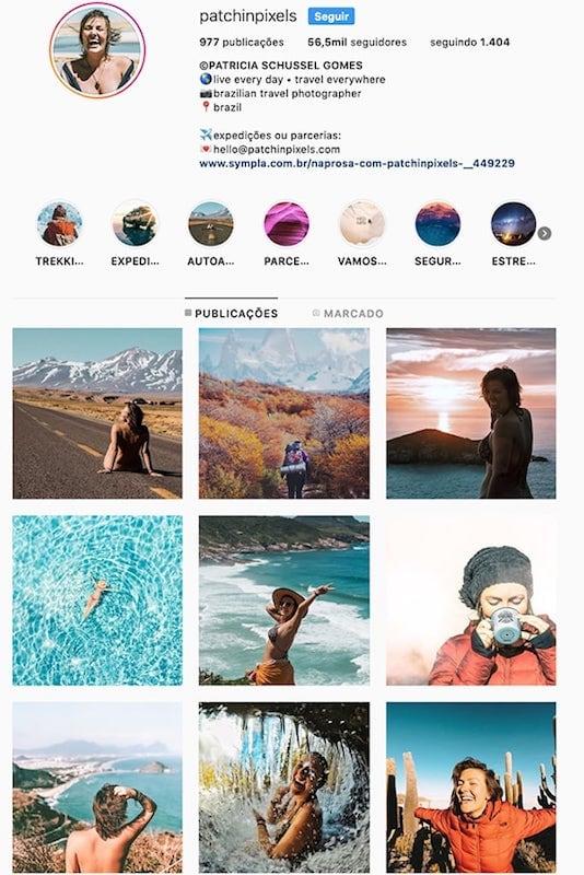 O perfil da @patchinpixels no instagram! Conheça outras mulheres viajantes com fotos incríveis clicando no link! #diainternacionaldamulher