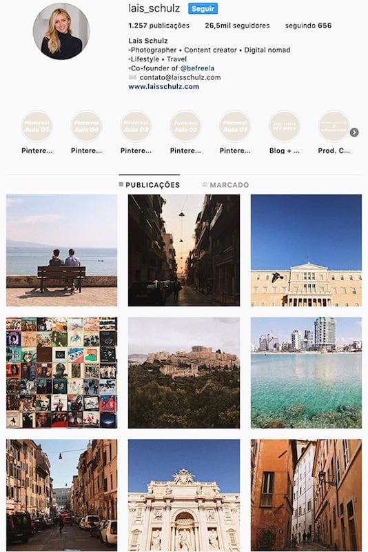 O perfil da @lais_schulz no instagram! Conheça outras mulheres viajantes com fotos incríveis clicando no link! #indicação #quemseguir