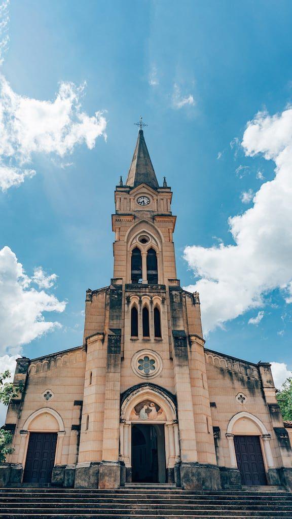 A iconica Igreja do Rosário.