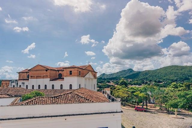 Vista da cidade de Goiás de dentro do museu de Arte Sacra.