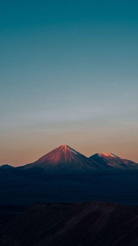 Vulcão no deserto do Atacama