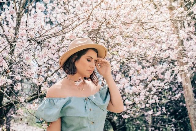 Cerejeiras em flor no parque do Carmo.