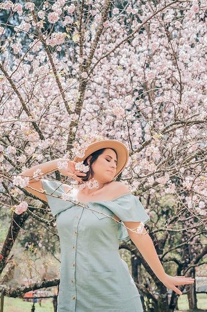 Bem blogueirinha posando no bosque das cerejeiras