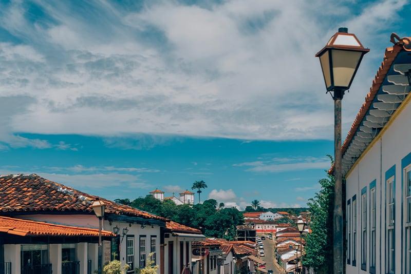 Vista de Pirenópolis a partir da Praça do Coreto. Essa cidadezinha do interior de Goiás possui diversos atrativos históricos e naturais!