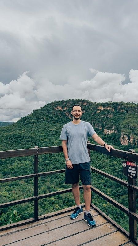 Vista de um dos inúmeros mirantes na trilha da Cachoeira do Abade!