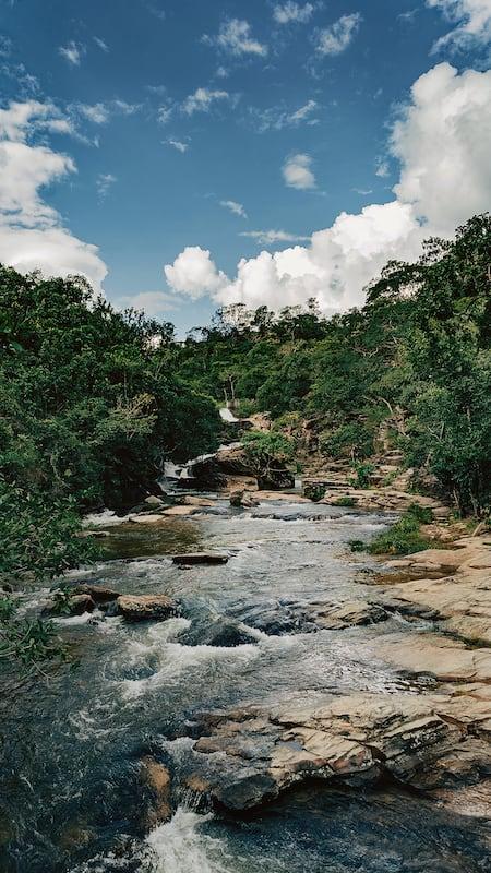 O Ribeirão dos Infernos, afluente do Rio da Almas em Pirenópolis-GO.