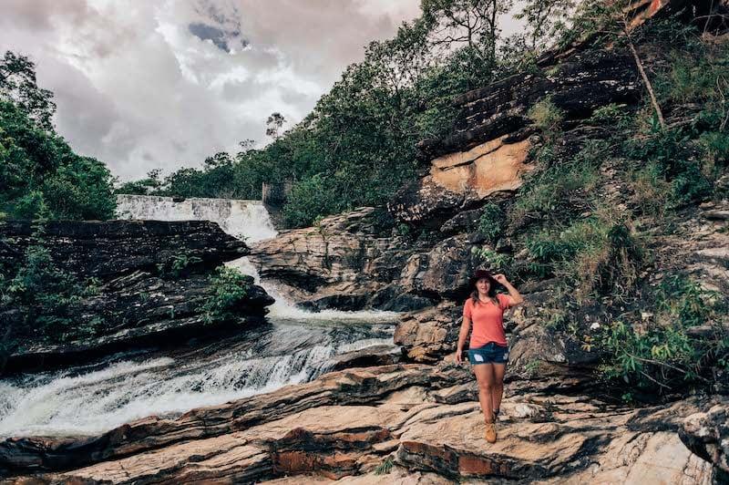 A bela paisagem da cachoeira da Usina Velha em Pirenópolis!Veja mais sobre o local no link.