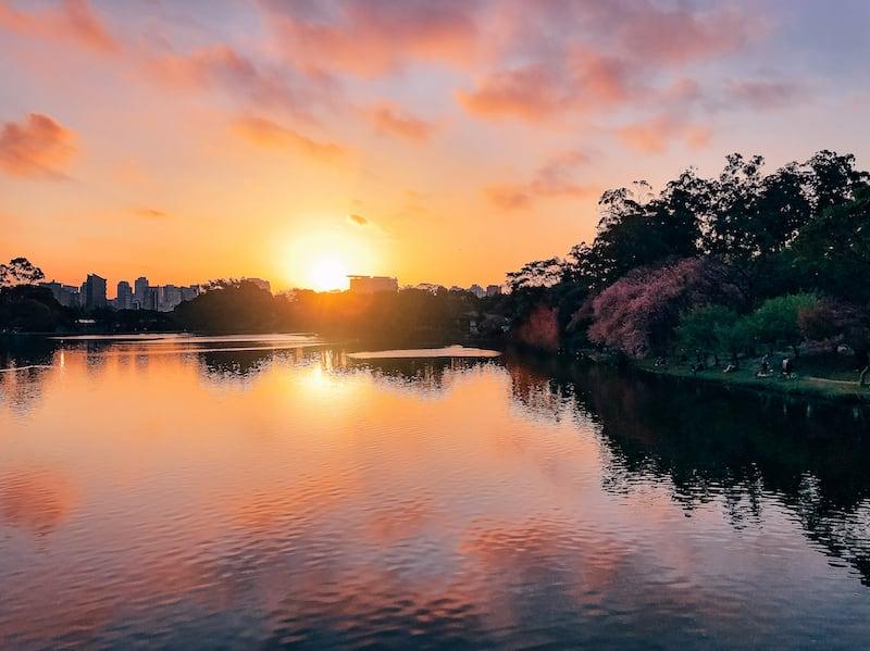 Pôr do sol no Parque Ibirapuera em São Paulo. Clique para ver mais imagens!
