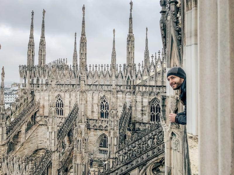 Os maravilhosos terraços são parte do tour pela Catedral de Milão. Saiba mais!