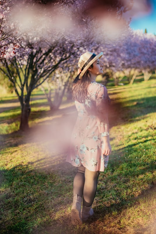 Flores de cerejeira são um ótimo cenários para fotos! Veja esse ensaio completo, clique para ler.